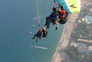 Tandem Paragliding Flight from Olympos Mountain near Antalya