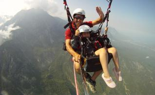 Kemer paragliding flight from Tahtali mountain