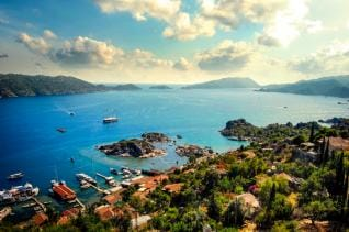 Full day Boat Cruise to sunken city Kekova from Kas