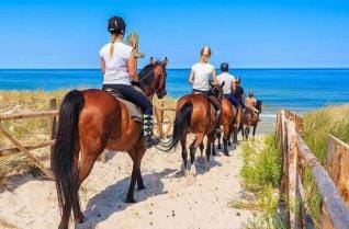 Horseback Riding at the golden sandy Lara beach of Antalya