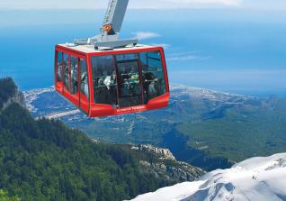 Olympos Cable Car Ride to Tahtali Mountain near Antalya