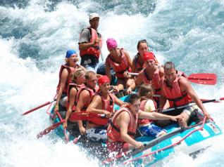 River Rafting at the National park of Antalya